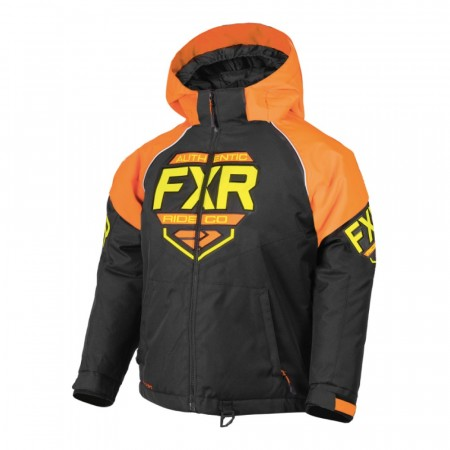 FXR Clutch Sort/Orange/Hi-Vis Barn & Ungdom