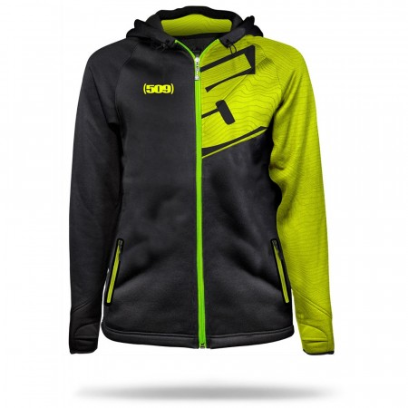 509 Tech Zip Hoody Lime