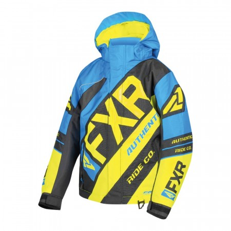 FXR CX Child Jakke Blå/Hi-vis/Sort