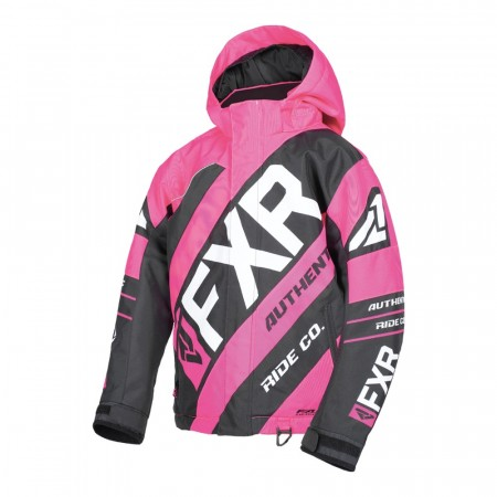 FXR CX Youth Jakke Fuchsia/Sort/Hvit
