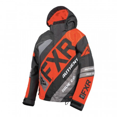 FXR CX Youth Jakke Sort/Rød/Charcoal